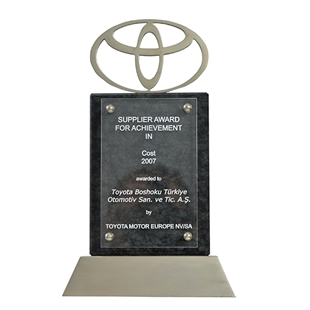 Supplier Award For Achievement in Cost   Toyota Motor Europe 2007
